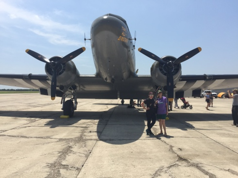 """C-47, """"That's All Brother"""" with chapter members Debbie Bertram and Lacee Law posed up front!"""