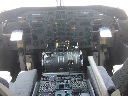 Cockpit of the Dash 8!